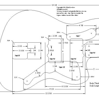 amma free electric guitar plans templates. Black Bedroom Furniture Sets. Home Design Ideas